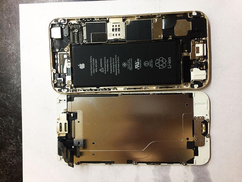 Разбираем iphone 6 перед заменой стекла, предварительно сняв дисплей